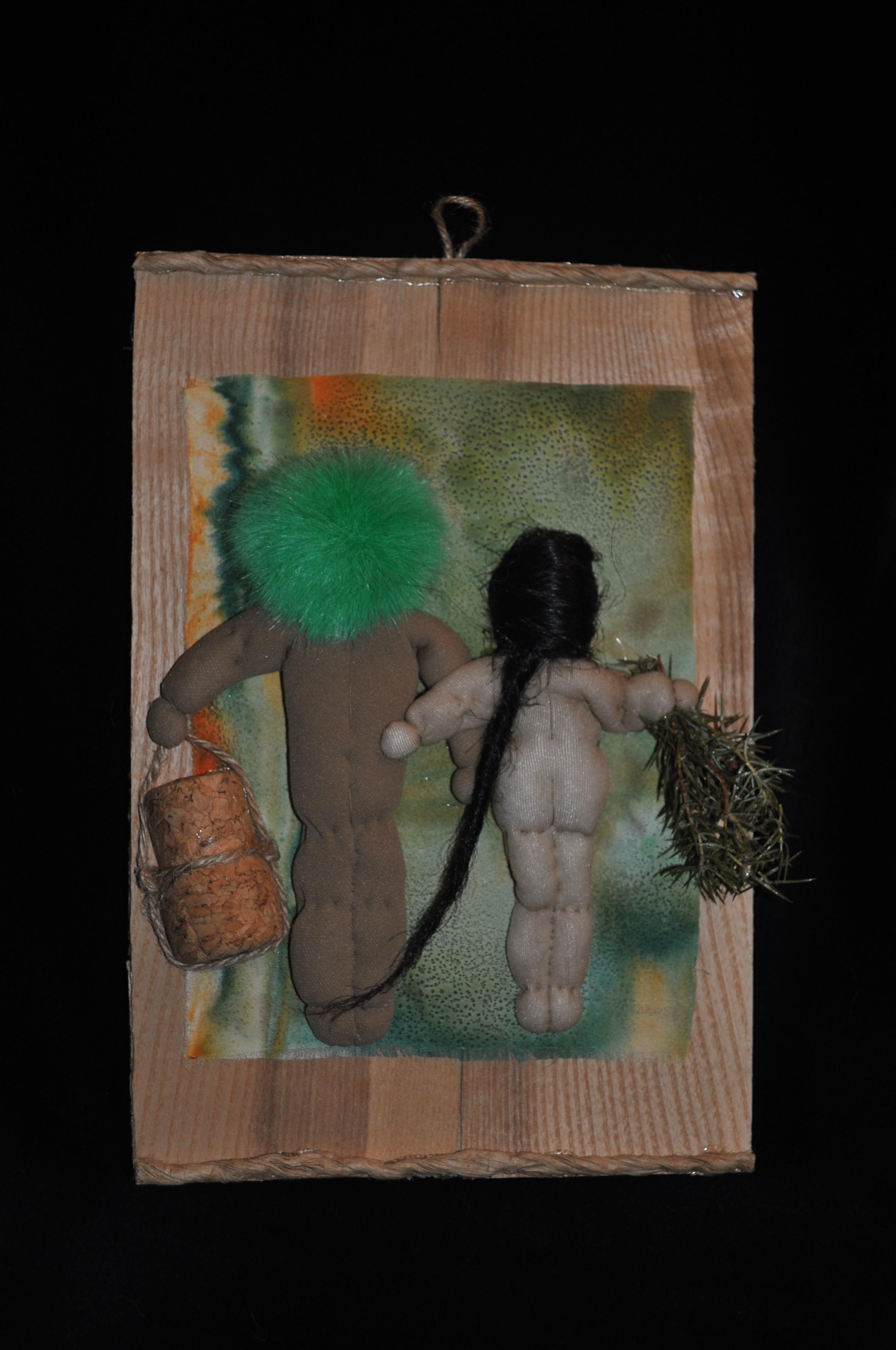 Käsityö, koristeet sauna tai ulko-ovet, ommeltu, alaston, nuket käsityökauppa netissä, nude dolls