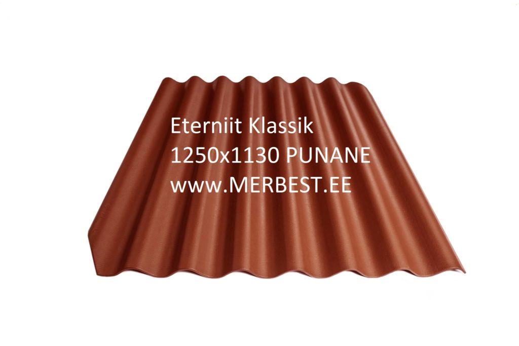 Eterniit Klasika BL12 1250x1130 punane, eterniit, eterniidi müük, katuseplaat, laineplaat, eterniidi vahetus, katusetööd, merbest oü