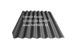 Eterniit Klasika BL92 grafiit 1250x1130 eterniit, eterniidi müük, katuseplaat, laineplaat, eterniidi vahetus, katusetööd, merbest oü