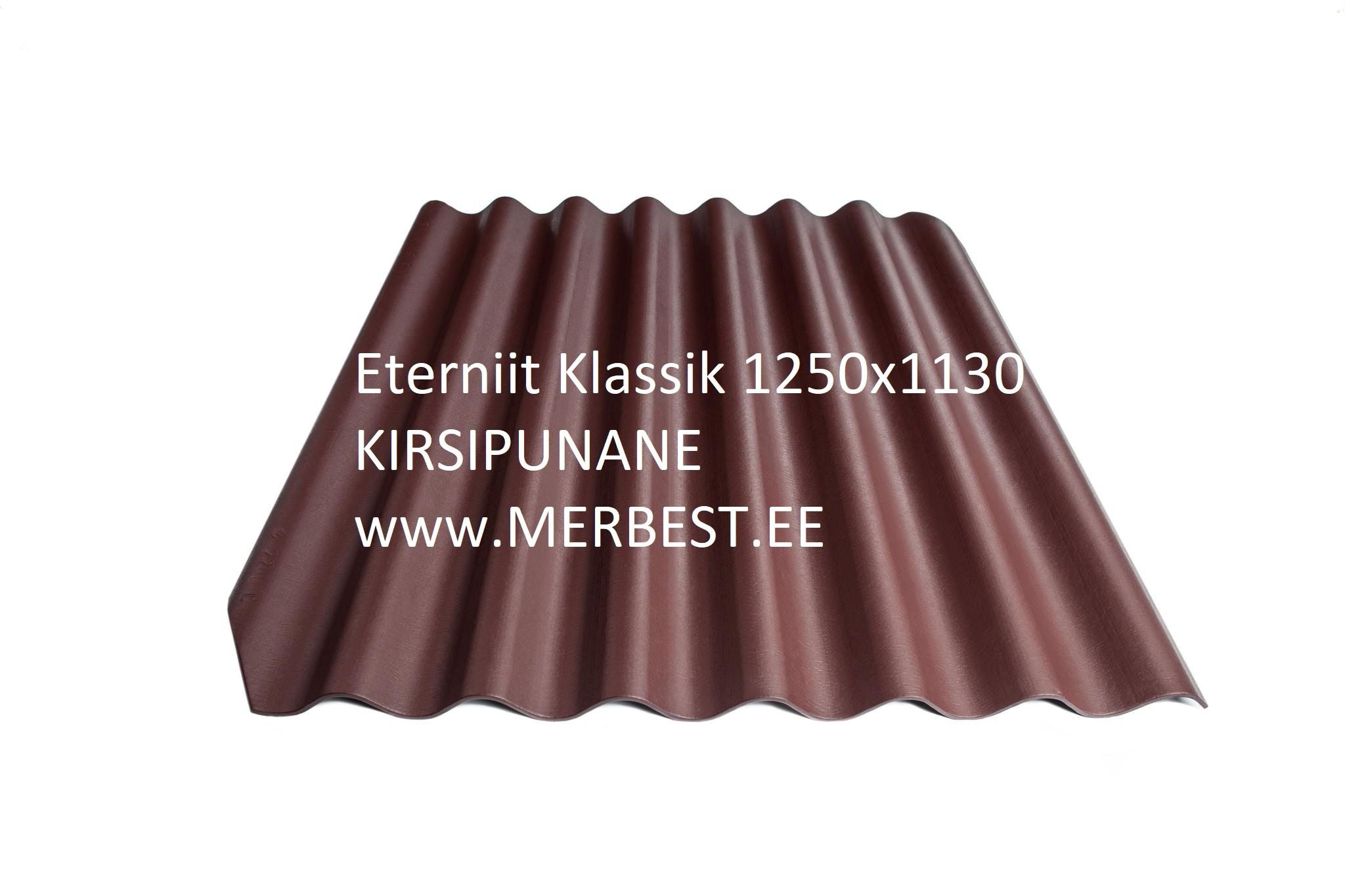 Eternit_Klasika_BL22_large kirsipunane 1250x1130 eterniit, eterniidi müük, katuseplaat, laineplaat, eterniidi vahetus, katusetööd, merbest oü
