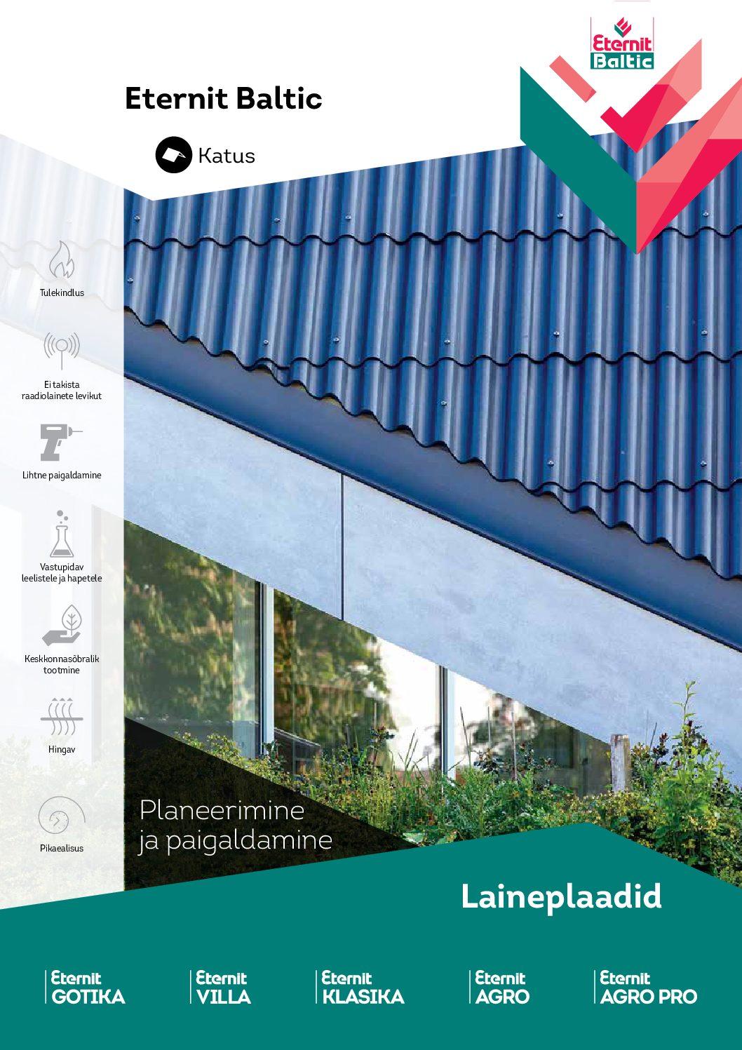 Eterniidi paigaldus ja katusetoode planeerimine ning katuse ehitus