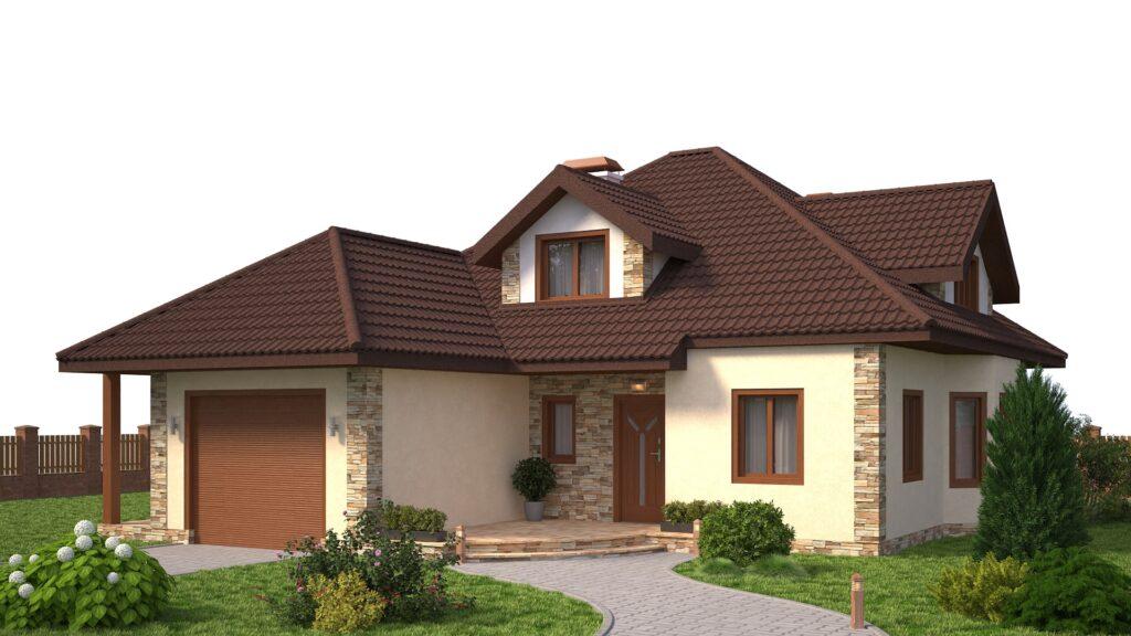 Kivipuistega katuseplekk queentile standard brown
